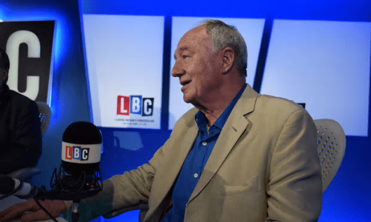 Ken Livingstone has only appeared on LBC's Saturday show as a guest in the wake of the antisemitism row [Image: Global/PA].