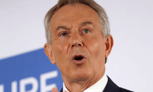 Tony Blair has issued another warning about a possible Jeremy Corbyn-led government. We should doubt his motives [Image: Philip Toscano/PA].