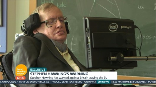 Professor Hawking [Image: ITV/Good Morning Britain].