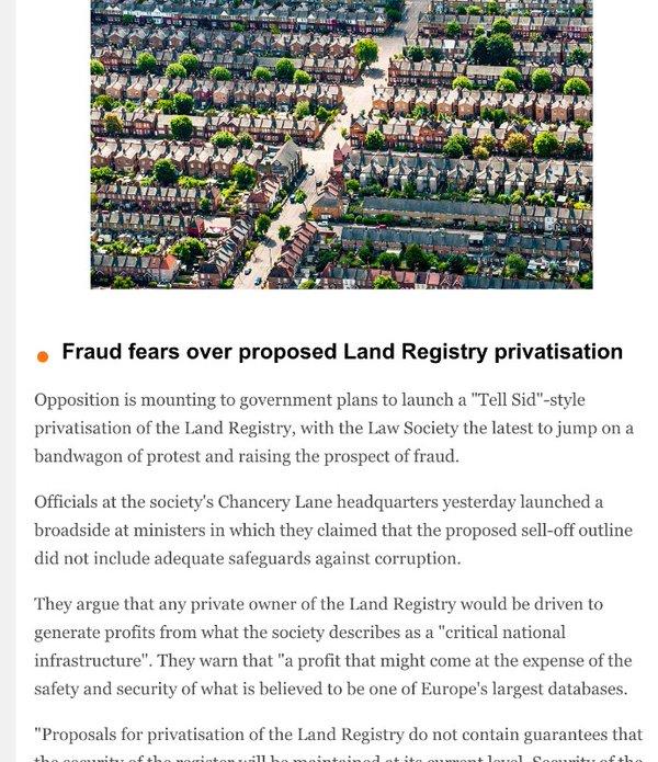 160601 land registry fraud fears