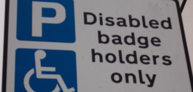 160604 Disabled Badge Holders Only sign