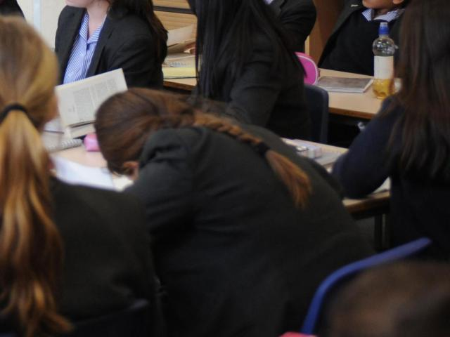 Schoolgirls at a mainstream school. Those at ACE schools were told they must submit to men [Image: PA].