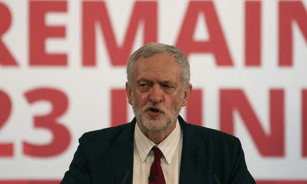The move by Jeremy Corbyn comes after former prime minister Gordon Brown spoke out at the weekend in support of staying in the EU [Image: Daniel Leal-Olivas/AFP/Getty Images].