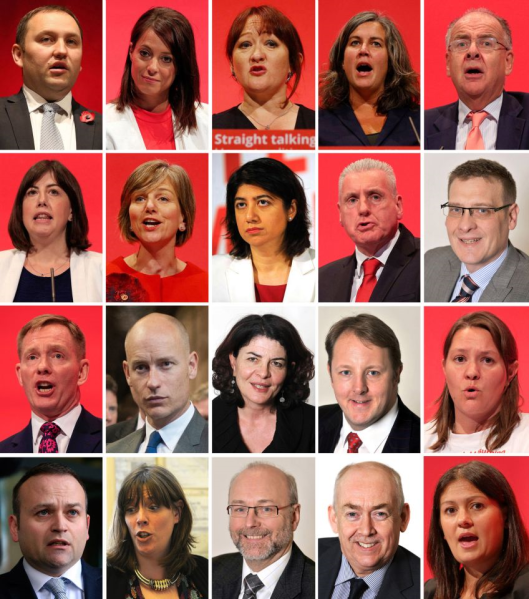 Resigned: Some of the backstabbers who are trying to push Jeremy Corbyn into resigning because they know none of them could win a leadership election against him.