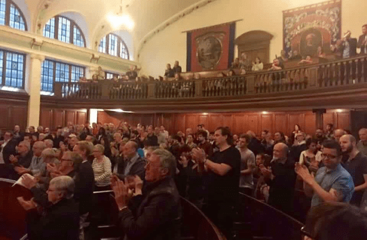MPs who voted against Jeremy Corbyn were barred from entry to Durham Miners' Hall.