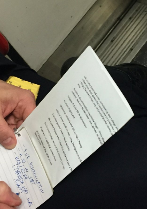 Snapped: Tube traveller Ben Hart caught this revealing shot on the Central Line on July 8.