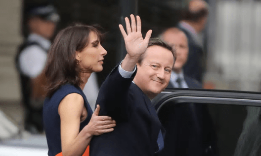 Good riddance: David Cameron with his wife Samantha left 10 Downing Street for obscurity on Wednesday [Image: Christopher Furlong/Getty Images].