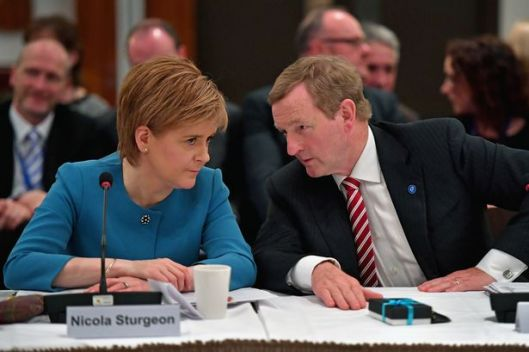 Nicola Sturgeon with Taoiseach Enda Kenny at the British Irish council meeting [Image: Getty Images].