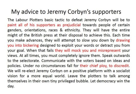 160723 Advice to Corbyn supporters