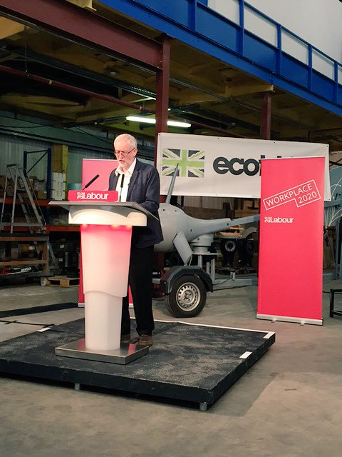 Jeremy Corbyn in May, unveiling the same policies Owen Smith announced for his leadership campaign today (July 27). The media ignored Mr Corbyn's announcement, it seems.