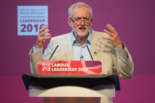 Animated: Jeremy Corbyn speaks during the Labour leadership debate in Cardiff, August 4, 2016.