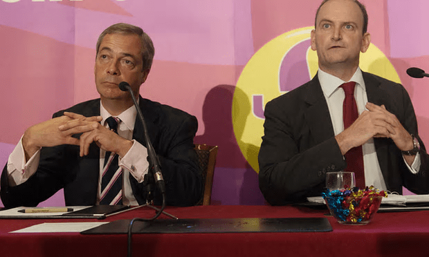 Nigel Farage (left) with Douglas Carswell last year. Carswell defected to Ukip from the Tories in 2014 [Image: Stefan Rousseau/PA].