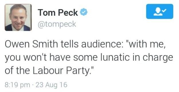 160823 Owen Smith lunatic