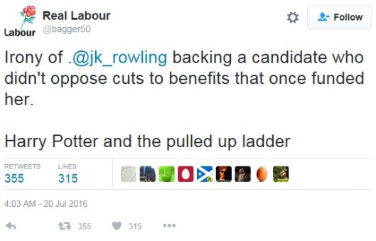 160831 Real Labour on JK Rowling