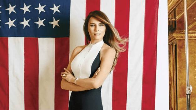 Melania Trump. She's American, it seems.