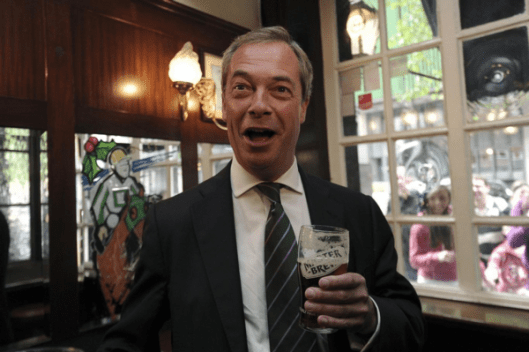 Nigel Farage is the interim leader of Ukip after Diane James resigned 18 days after being appointed [Image: Independent].