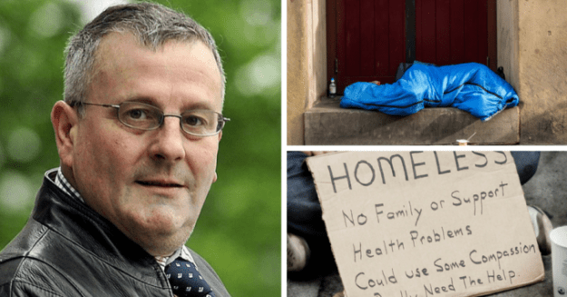 """Conservative Cllr David Heseltine wants to """"eliminate"""" the homeless from the streets of Bradford."""
