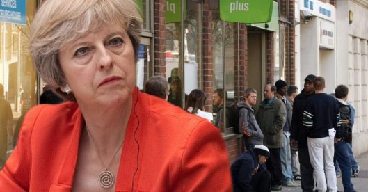 Pressure is now mounting on Theresa May's ministers to extend checks to DWP benefits [Image: Getty].