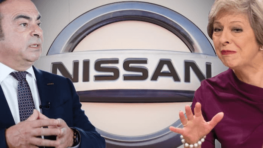 Nissan boss Carlos Ghosn received assurances from the prime minister that the carmaker would be shielded from the impact of Brexit [Montage: FT/Getty].