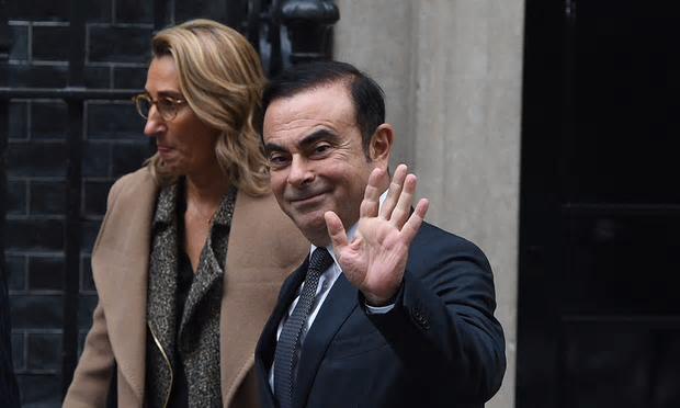 Carlos Ghosn, Nissan's chief executive, after talks with Theresa May at No 10 Downing Street [Image: Facundo Arrizabalaga/EPA].