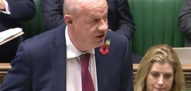 Damian Green in Parliament, very definitely NOT telling anyone he is planning to place people with serious long-term illnesses under relentless scrutiny.