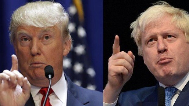 Separated at birth or cloned? Donald Trump and Boris Johnson [Composite: Laura Tisdale/Twitter].