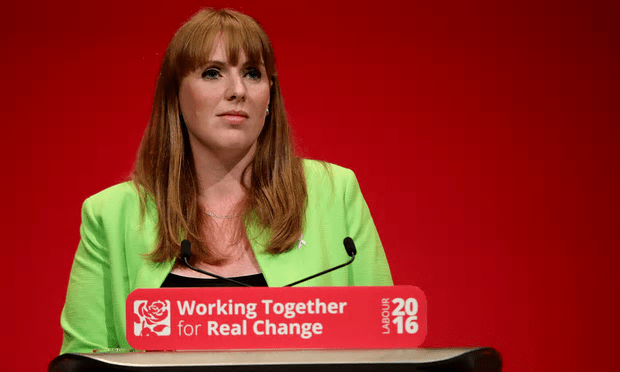 Shadow education secretary Angela Rayner should 'resist announcing new policies at first and talk about what a national education system should be trying to achieve'. [Image: Christopher Furlong/Getty.]