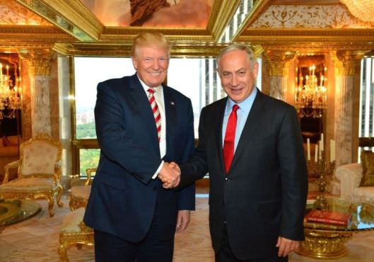 Donald Trump and Benjamin Netanyahu [Image: Jerusalem Post].