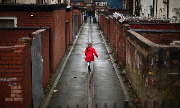 A child playing in Manchester: 'Confinement by monoculture is the enemy of aspiration.' [Image: Christopher Furlong/Getty Images.]