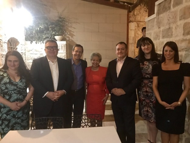 Ruth Smeeth (second from right) meeting Israeli politician Isaac Herzog (third from left) as part of a Labour Friends of Israel delegation [Image: LFI/Twitter].