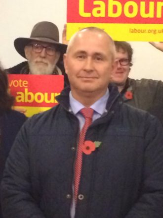 Labour candidate Jim Clarke.