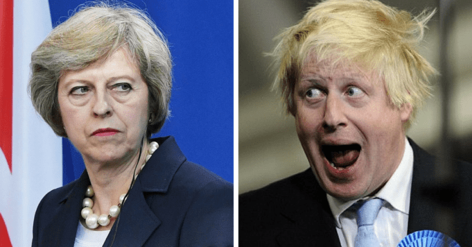 Image result for boris johnson theresa may
