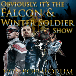 Episode artwork featuring Falcon and the Winter Soldier from the comics and the films