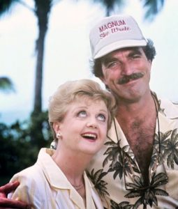 publicity still for the Magnum PI/Murder She Wrote crossover