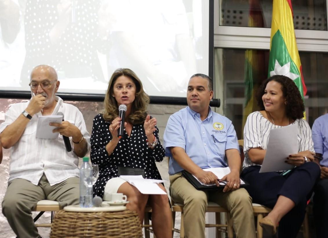 """Pedrito Pereira, al tanto del """"Pacto por Cartagena"""" con la vicepresidenta Martha Lucía Ramírez."""