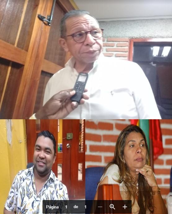 Arriba, César Pión (U). Abajo, Luis Cassani (Cambio) y Duvinia Torres (partido U) concejales de Cartagena. Ellos buscan reelegirse.