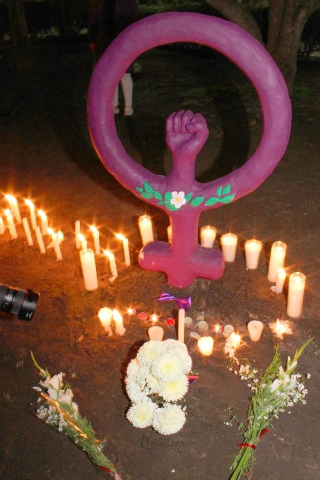Monumento en memeoria de las victímas de feminicidio en San Luis Potosí ( Foto: Agencia Lux-SLP)