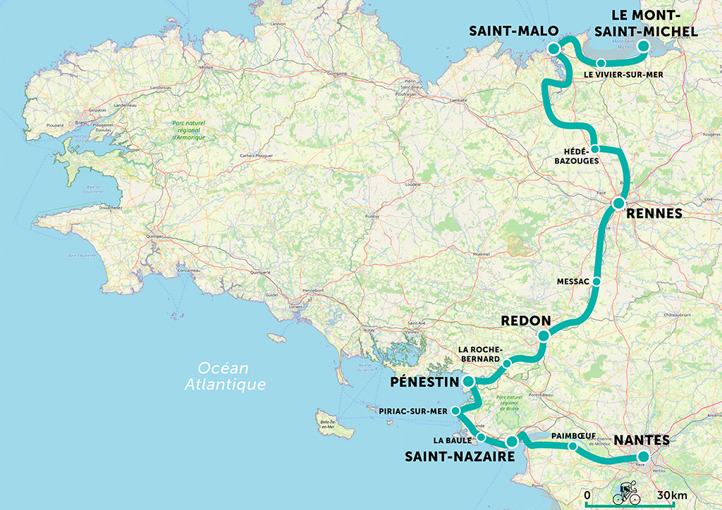 Brittany by bike itinerary