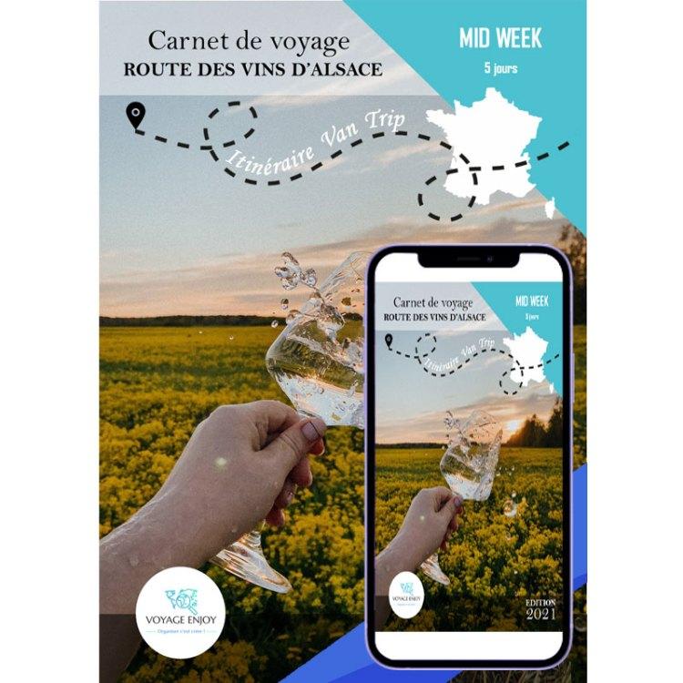 Carnet de voyage Van Trip Week End Route vin Alsace