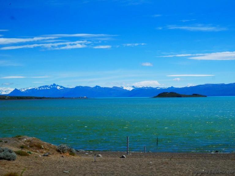 Lago argentino vu du bivouac