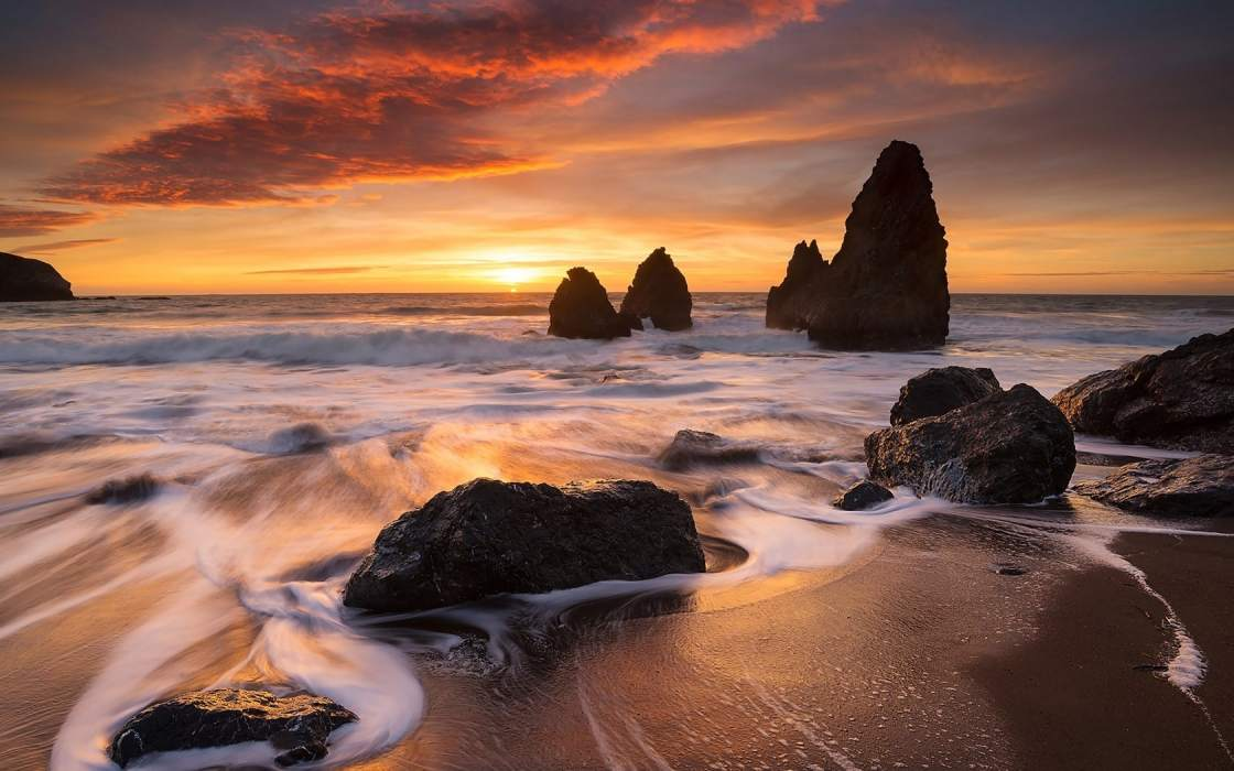 wallpapers et fonds d'écran plage californie pays mer