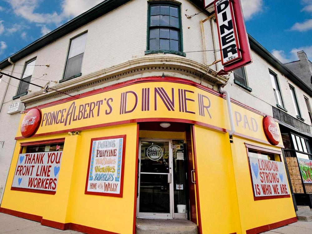 Entrée principale du Prince Albert's Diner à London