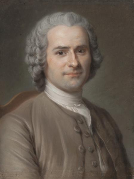 Portait de Rousseau par M-Q de La Tour, Musé JJ Rousseau de Montmorency © Musée Montmorency