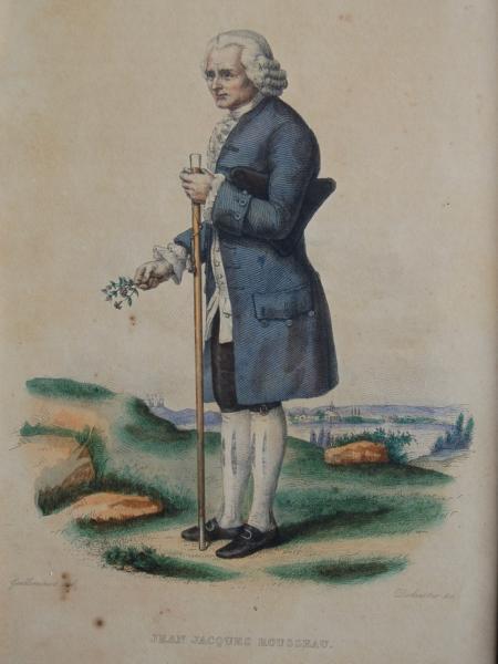 Rousseau herborisant. Abbaye de Chaalis © Abbaye de Chaalis, Institut