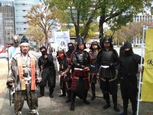 J'ai eu l'honneur de porter cette magnifique armure avec un saishi : le plus grand sabre