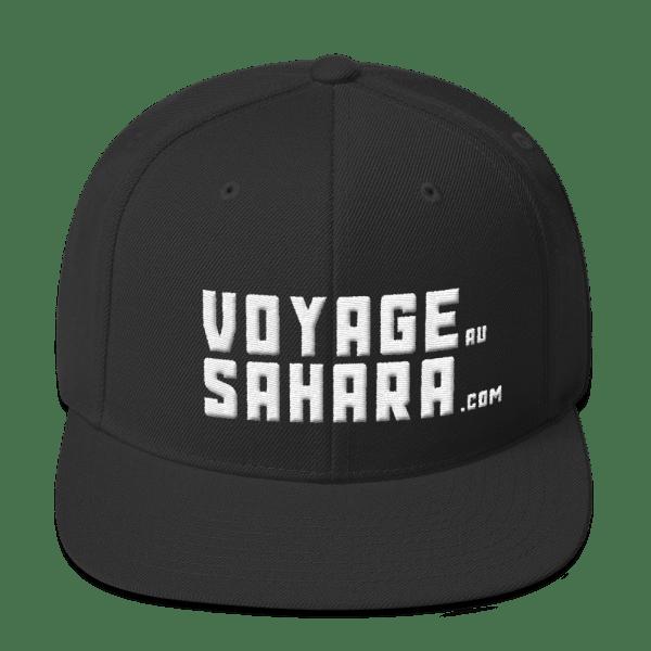 Casquette Snapback Voyage au Sahara couleur noir