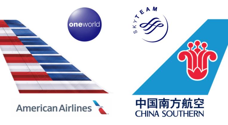 アメリカン航空(AA)と中国南方航空(CZ)の提携