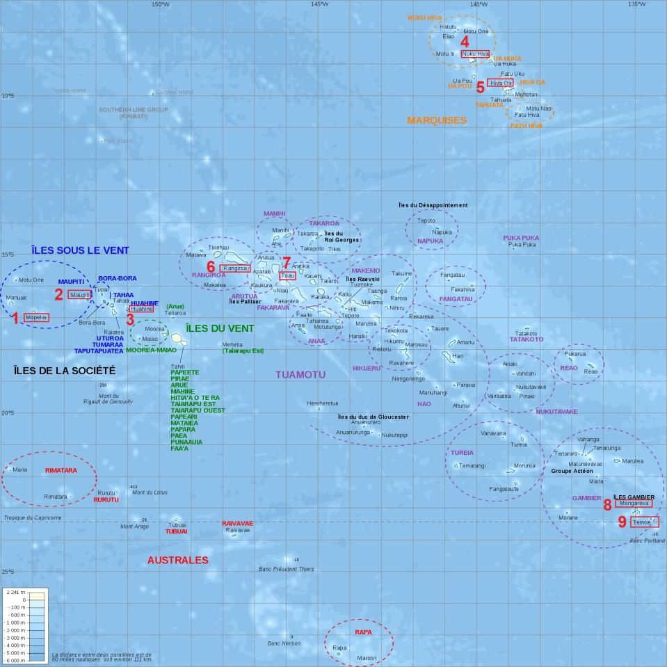 découverte des îles de la Polynésie française