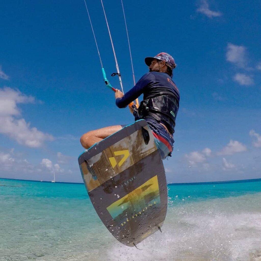 Aurelien kite surf a raiatea