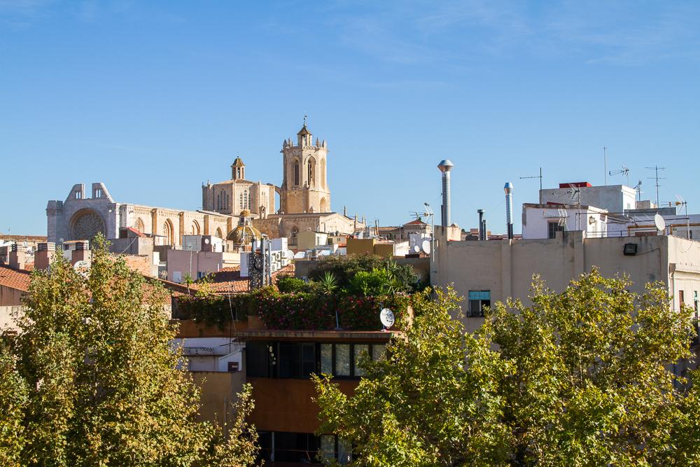 vue sur la cathédrale de Tarragone